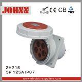 IP67 5p 125A Slopping 위원회에 의하여 거치되는 산업 소켓