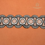 두 배 색깔 직물 리본 도매 백색 레이온 & 폴리에스테 구슬로 만드는 신부 레이스