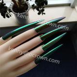 Camaleón cristal espejo cromado de esmalte de uñas perlado pigmento