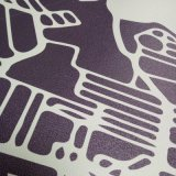 Impression polychrome de peintures murales de mur de vinyle de type moderne de modèle de Customzied