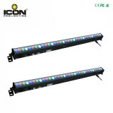 Bañador de pared de la luz de las inundaciones 24*3W LED RGB DMX Bar Matrix