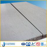 el panel de aluminio constructivo del panal de la capa de madera blanca de 15m m Mateirals
