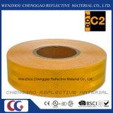 Micro nastro materiale riflettente giallo prismatico su ordinazione per traffico (CG5700-OY)