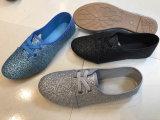 美しい印刷を用いる最も新しいデザインLadieの方法PVC靴