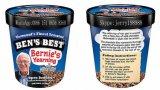 500mlペーパー印刷されたパイントのアイスクリームの管か容器またはコップ