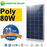 Panneau solaire du transport gratuit 80W 12V picovolte