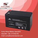 Baterias acidificadas ao chumbo do AGM VRLA da bateria profunda 6 FM 9 do UPS do ciclo 12V 9ah