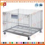 Contenitori di memoria accatastabili del magazzino di acciaio del filo della gabbia industriale della maglia (Zhra4)