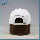 Weißes Panel-kundenspezifische Stickerei-Firmenzeichen-Baseballmütze der Baumwolle6