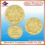 Рекламные персонализированные Gold выгравированными сувенирный монета дешевые цены