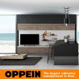 Gabinetes de cozinha abertos de madeira da laca nova moderna da melamina do projeto (OP16-M05)
