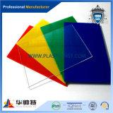 Strato acrilico colorato del plexiglass della materia prima di 100% di PMMA (PA-C)