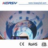 Visualización de LED creativa de interior curvada redonda P10