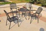 O pó de alumínio da mobília luxuosa do pátio revestiu o jogo da cadeira de tabela do jardim