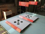 Manufacuturer of Acrylic Laptop Display Stand with Logo Printing