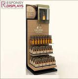 Armadietto di esposizione di legno del vino del migliore di qualità del pavimento basamento della bottiglia da birra con il marchio