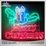 La pendaison de plein air éclairés Lettre de la lumière de la bannière de Noël
