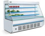 Supermercado a fruta e produtos hortícolas display aberto frigorífico