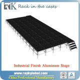 Plate-forme en bois d'étape mobile en aluminium portative pour des événements