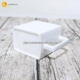 Weißes Porzellan-Kaffeetasse-Quadrat-keramischer Becher
