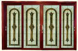 Porte coulissante en aluminium de couleur en bois des graines