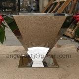 Potenciômetro material luxuoso do plantador do aço inoxidável de potenciômetro de flor do jardim do estilo da forma