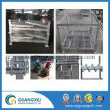 Material de Aço resistente caixa de malha de arame dobrável