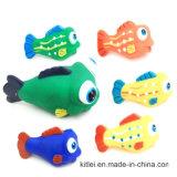 Peixes coloridos plásticos artificiais do brinquedo do PVC do presente por atacado da decoração para o miúdo