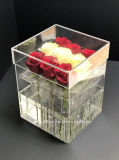 Fabrik-Hersteller-Raum-Acrylblumen-Kasten-Acrylrosen-Kasten mit 9 PCS-Rosen