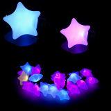 Luz ao ar livre da corda do Natal do diodo emissor de luz da forma da estrela da decoração impermeável