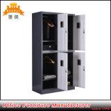 Jas-027金属の家具4層の学校の体操のロッカー4のドアの記憶の衣類の鋼鉄ロッカー