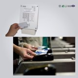 Уф-печать ПВХ ясно прозрачные выездных Business Card