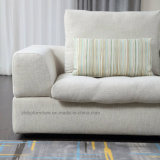 Simple Style Beige Corner Fabric Sofa for Home Furniture