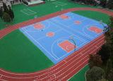 Le plein polyuréthane exempt de dissolvants suit la surface de sport
