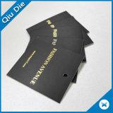 Желтые Hangtags/билет качания с шнуром для одежды