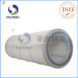 Colector de polvo de pliegues Filterk cartuchos filtrantes reutilizables.