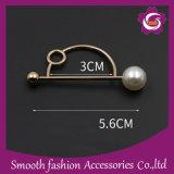 Foulard boucle bouton décoratif Pearl aiguille Brooch Pin Accessoires de mariage