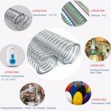 Anti-UV du fil en acier en spirale en PVC flexible renforcé avec une bonne flexibilité