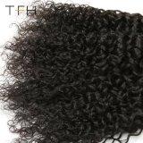 熱いSellling 9Aのインドのカーリーヘアーの束のバージンのRemyの毛の織り方のペルーの人間の毛髪
