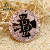 Pièce de monnaie faite sur commande chaude de souvenir d'estampage d'or de Bitcoin de vente avec la boîte en plastique (JIABO-1055)