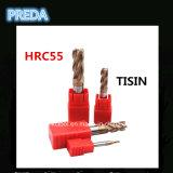 중국 HRC55 Tisin 코너 반경은 CNC를 도구로 만든다