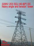 Torretta pesante di angolo e di tensionamento di CC di Megatro 220kv 2D3 Sdj