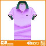 T-shirt coloré du polo des femmes de Customed