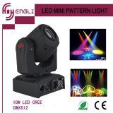 10W LED bewegliche Hauptdisco-Stadiums-Beleuchtung (HL-014ST)