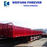 販売のための中国の製造3axleの側面の塀の貨物トレーラー