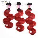 Venda por grosso de onda do Corpo Pre-Coloed Cabelo humano Omber Color 1b/Bug Remy dois pacotes de extensão de cabelo de tom (TFH18)