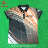 Healong Polyester-volles Sublimation-Polo-Hemd 100%