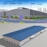 工場研修会のための鉄骨構造の建物