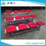 Carrinho com assentos plásticos, anfiteatro portátil do basquetebol, assento do estádio
