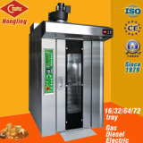 Four rotatoire diesel commercial de crémaillère de la machine 16-Tray pour le système de boulangerie